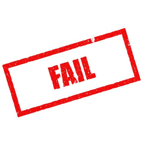 picture of the word Fail