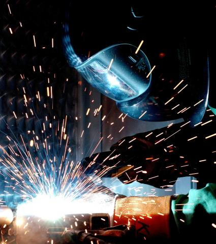 Picture of person welding